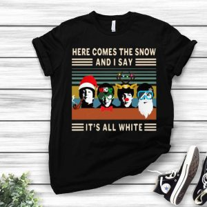 Vintage The Beatles Here Comes The Snow Christmas shirt