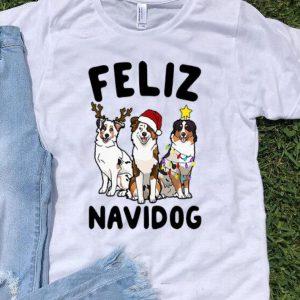 Australian Shepherd Feliz Navidog Christmas shirt