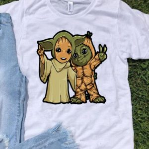 Baby Yoda And Baby Groot shirt