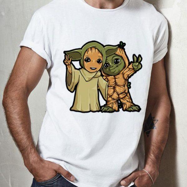 Baby Yoda And Baby Groot shirt