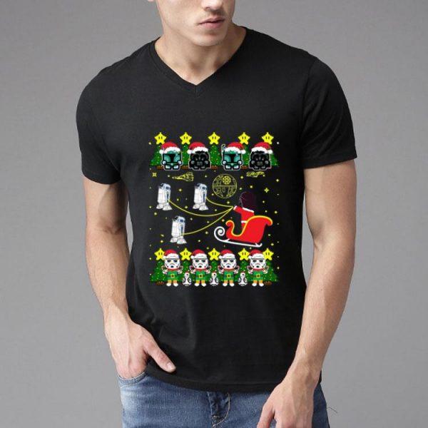 Boba Fett Darth Vader Stormtrooper Style Santa Claus Christmas shirt