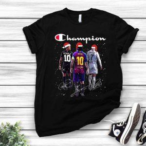Champion Neymar Jr Messi And Ronaldo Signatures Christmas shirt