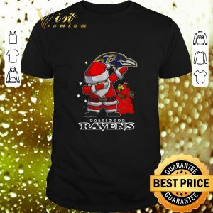 Cheap Baltimore Ravens Dabbing santa Christmas shirt
