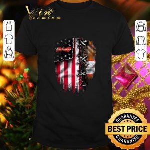 Cheap Budweiser inside American flag shirt