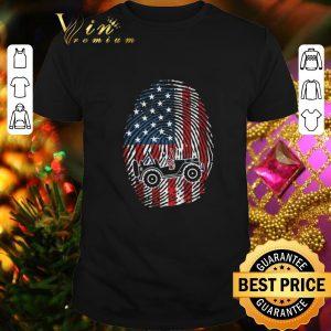 Cheap Fingerprint American flag Jeep shirt
