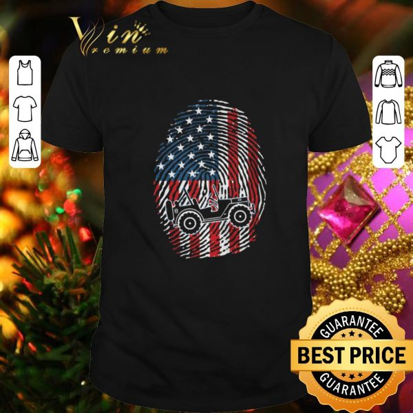 Cheap Fingerprint American flag Jeep shirt