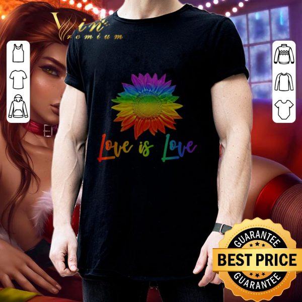 Cheap LGBT love is love sunflower shirt