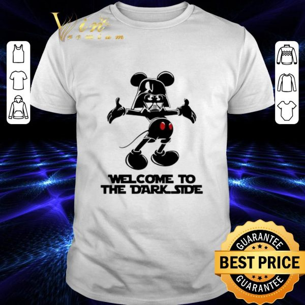 Cheap Mickey Darth Vader welcome to the dark side shirt