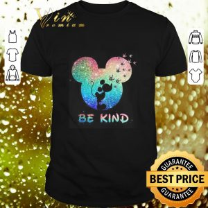 Cheap Mickey head I love you sign language be kind shirt