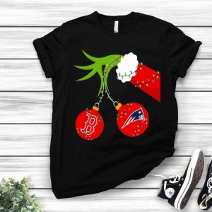 Christmas Grinch Boston Red Sox And New England Patriots shirt