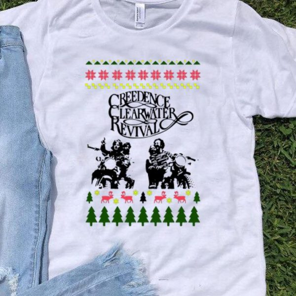 Creedence Clearwater Revival Motorbike Ugly Christmas shirt