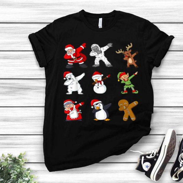 Dabbing Santa Claus And Friends Christmas shirt