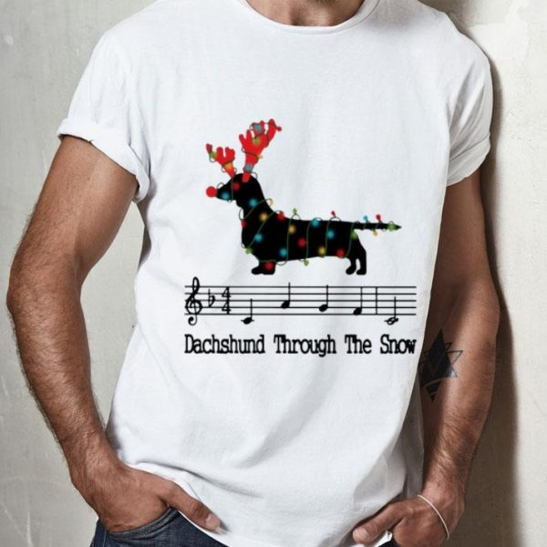 Dachshund Through The Snow Music Note Christmas shirt