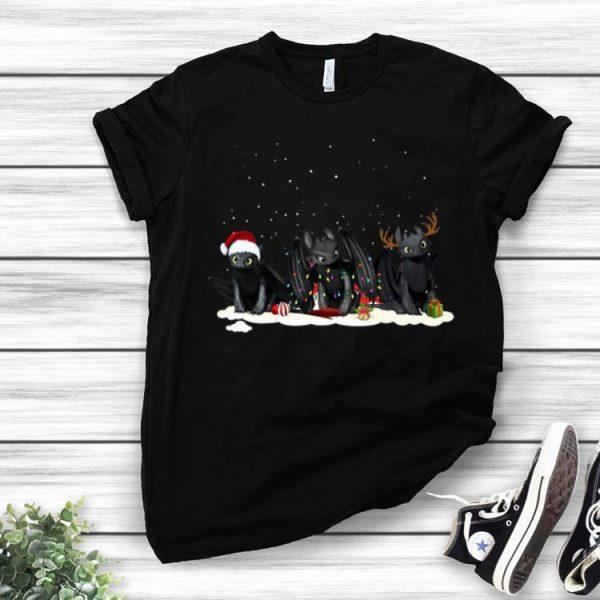Disney Night Fury Christmas Hat Light And Reindeer Night Fury shirt
