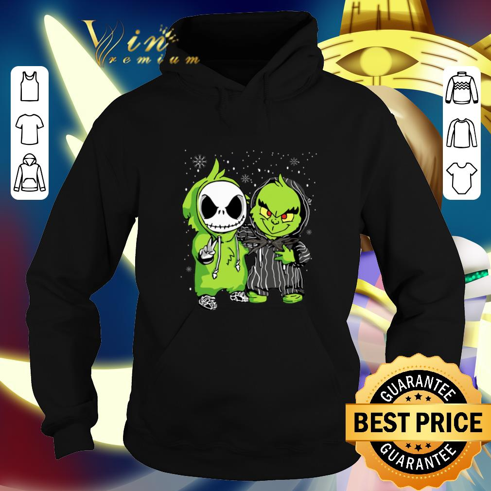 Funny Baby Jack Skellington and Grinch Christmas shirt 4 - Funny Baby Jack Skellington and Grinch Christmas shirt