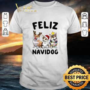 Funny Feliz Navidog Corgi Christmas shirt