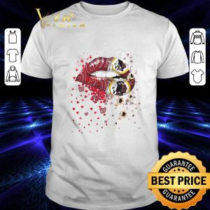 Funny Lips Washington Nationals Washington Redskins shirt