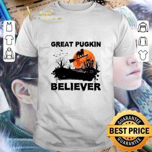 Funny Pug Great pugkin believer sunset halloween shirt