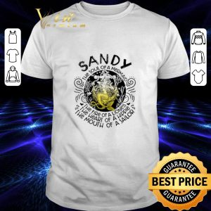 Funny Sandy the soul of a mermaid the fire of a lioness hippie sailor shirt