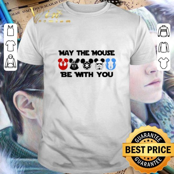 Funny Star Wars characters version Mickey may the mouse be with you shirt