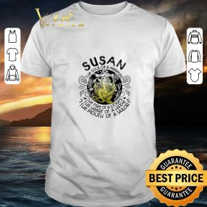 Funny Susan the soul of a mermaid the fire of a lioness hippie sailor shirt