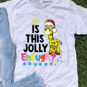 Giraffe Santa Is This Jolly Enough Christmas shirt