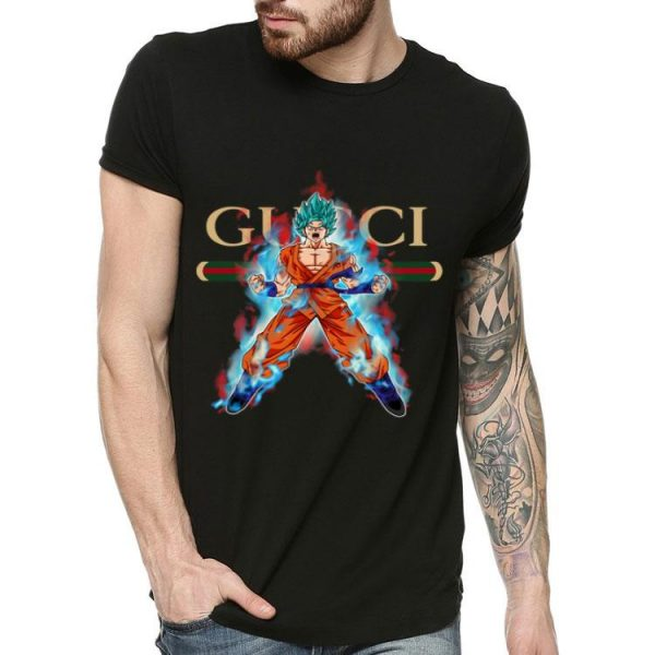 Goku Super Saiyan Blue Gucci shirt