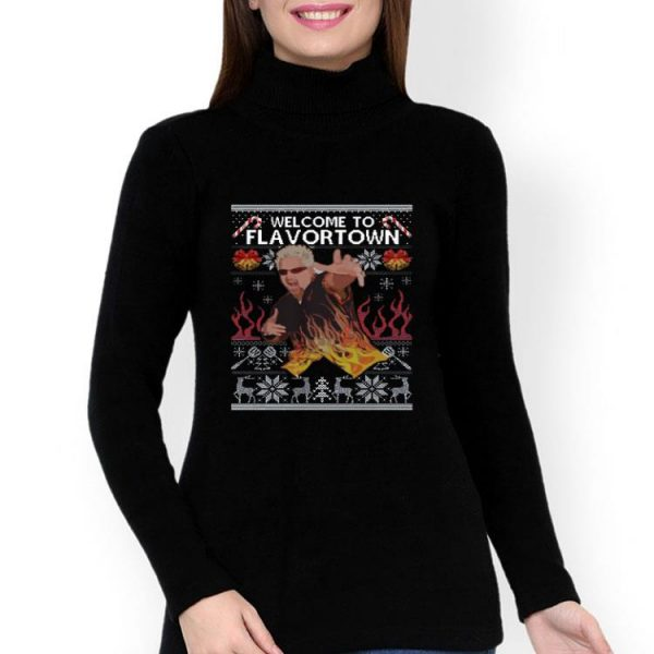 Guy Fieri Welcome To Flavortown Ugly Christmas shirt