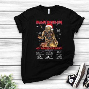 Iron Maiden Santa 45th Anniversary Signatures Christmas shirt
