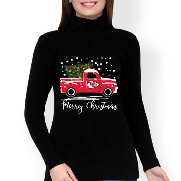 Kansas City Chiefs Truck Merry Christmas shirt