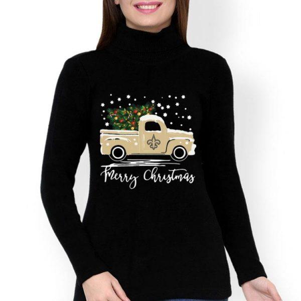 New Orleans Saints Truck Merry Christmas shirt