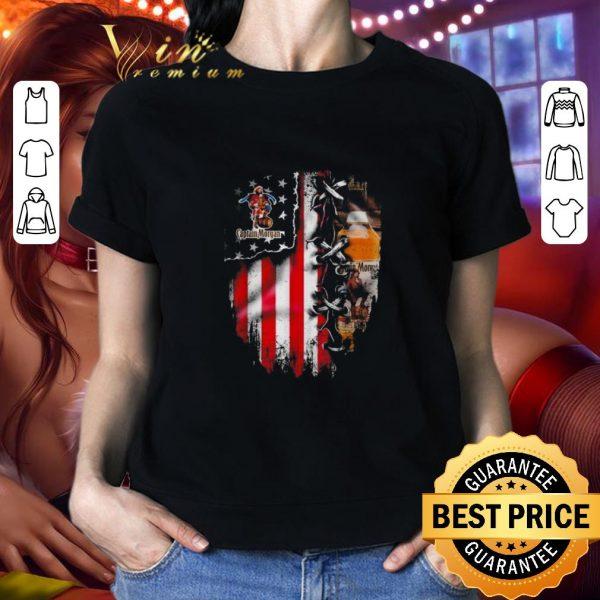 Premium Captain Morgan inside American flag shirt