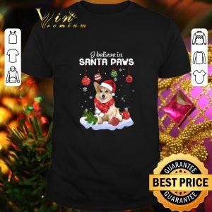Premium Corgi I believe in Santa Paws Christmas shirt