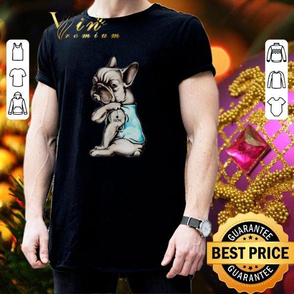 Premium French Bulldog strong i love mom shirt