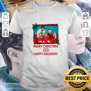 Premium NSYNC Merry Christmas and happy holidays shirt