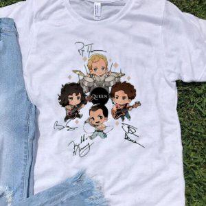 Queen Band Chibi Friends Signatures shirt