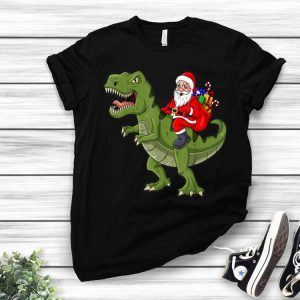 Santa Claus Riding T Rex Dinosaur Christmas shirt