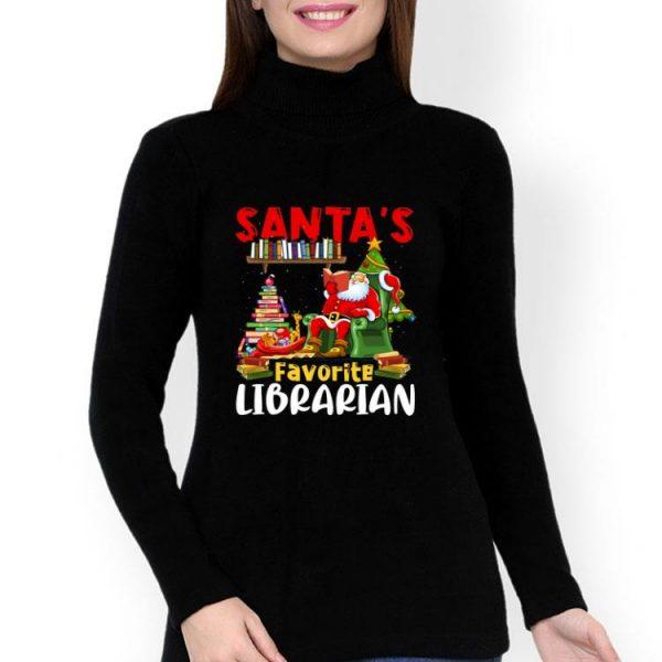 Santa's Favorite Librarian Christmas Book Lovers shirt
