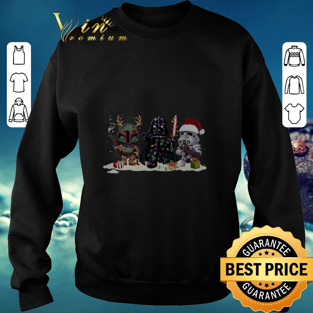 Stormtrooper Boba Fett Darth Vader and Christmas shirt