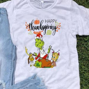 The Grinch Eating Turkey Happy Thanksgiving shirt