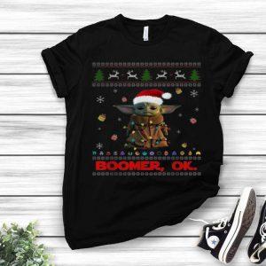 The Mandalorian Baby Yoda Boomer Ok Ugly Christmas shirt