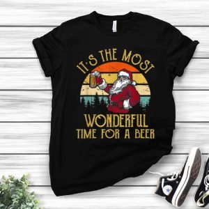 Vintage Santa Claus It's The Most Wonderful Time For A Beer shirt