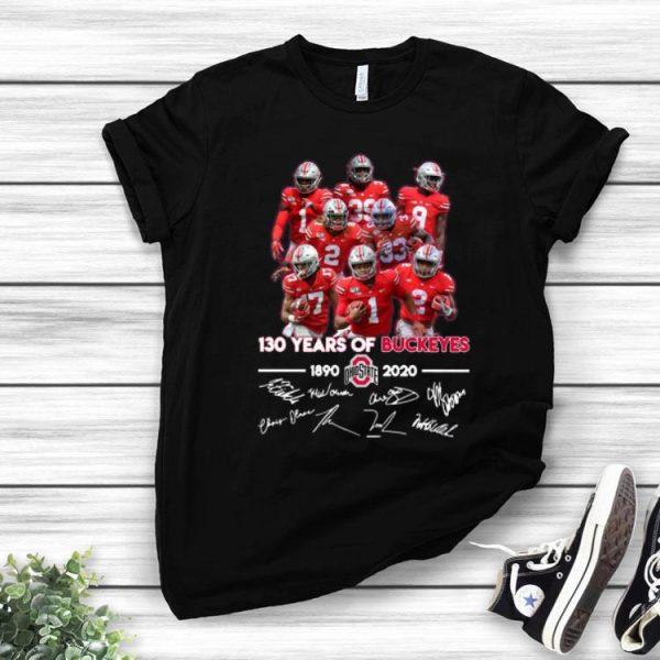 130 Years Of Buckeyes 1890-2020 Ohio State Signatures shirt