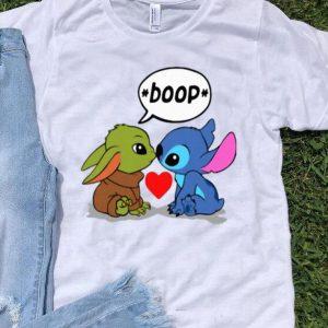 Baby Yoda Kiss Baby Stitch Boop shirt