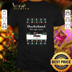 Best Dachshund through snow ugly Christmas sweater