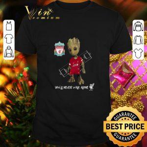 Cheap Baby Groot Little Liverpool You'll Never Walk Alone shirt