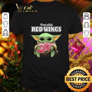 Cheap Baby Yoda hug Detroit Red Wings shirt