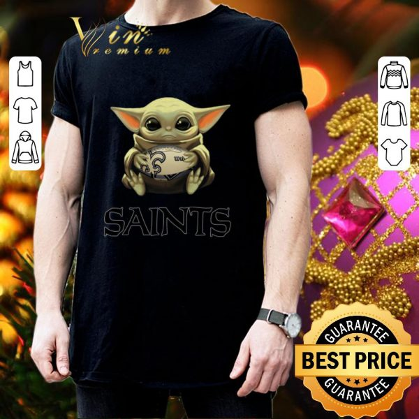 Cheap Baby Yoda hug New Orleans Saints Star Wars shirt