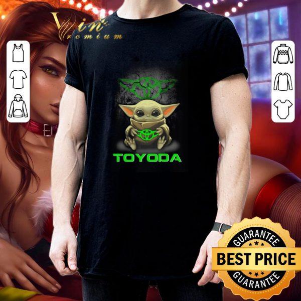 Cheap Baby Yoda hug TOYODA Toyota Star Wars Mandalorian shirt