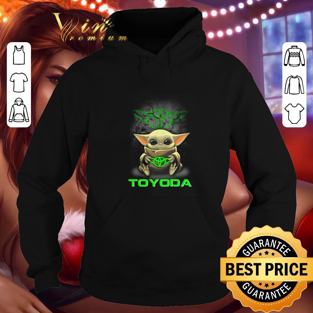 Cheap Baby Yoda hug TOYODA Toyota Star Wars Mandalorian shirt 4 - Cheap Baby Yoda hug TOYODA Toyota Star Wars Mandalorian shirt